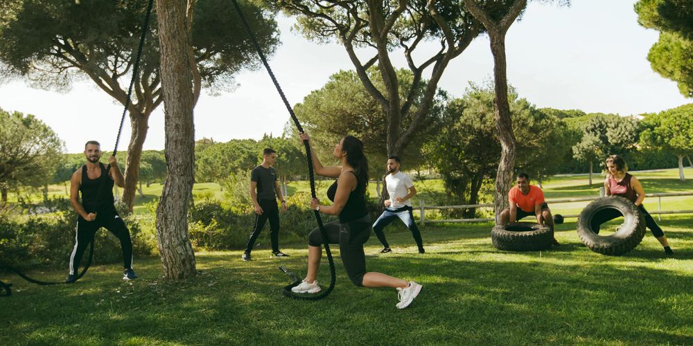 Fitness group classes in the gardens